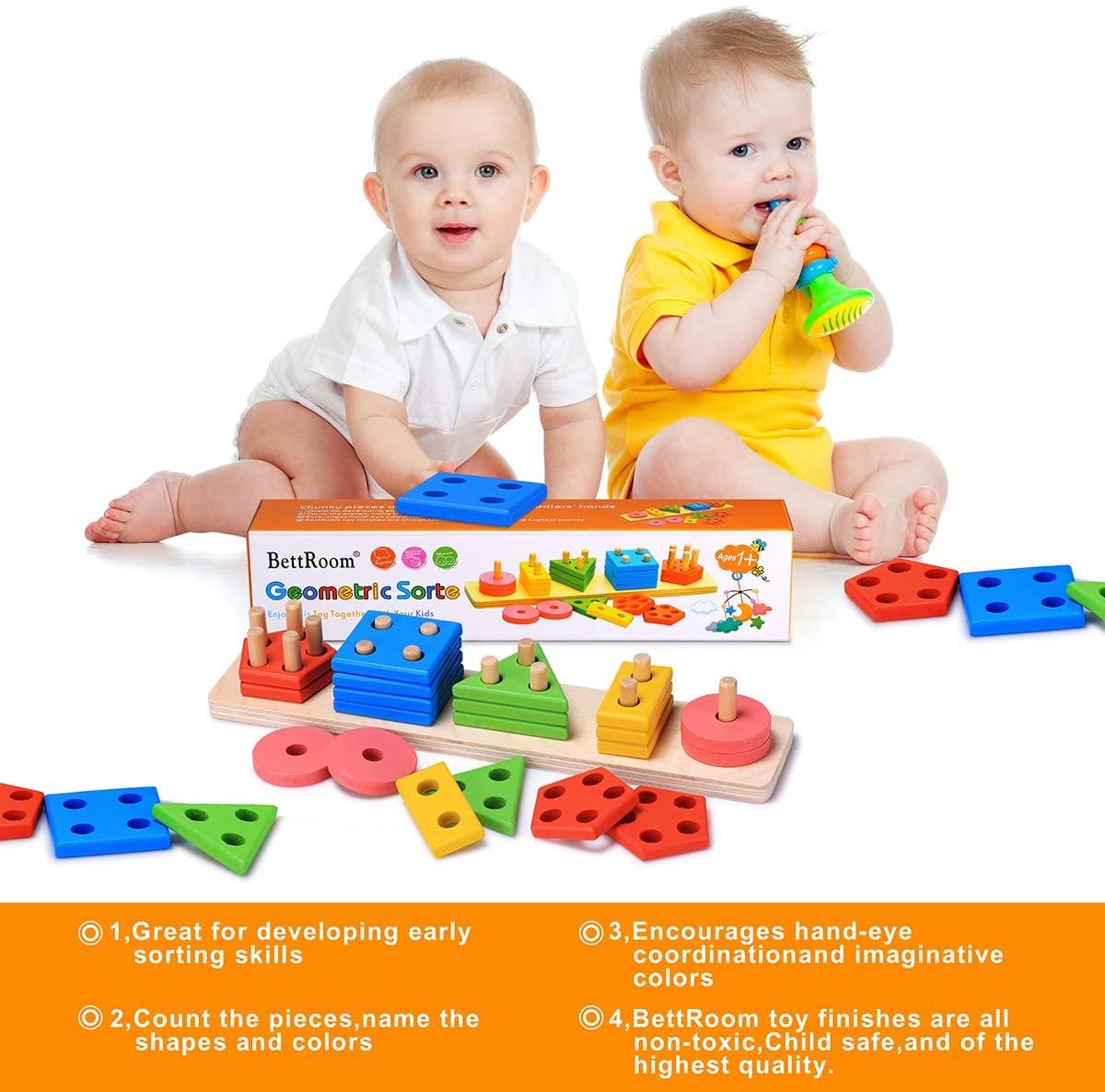 BettRoom Wooden Educational Preschool Toddler Toys for 3 4 ...